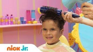 كيفية جعل تسريحة بومبادور   كبيرة على غرار الملفات الشعر التعليمي | يوم مشمس | نيك الابن.