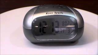 Ken Tech T 4429 Talking Alarm Clock w Clear Voice Time and Indoor Temperature
