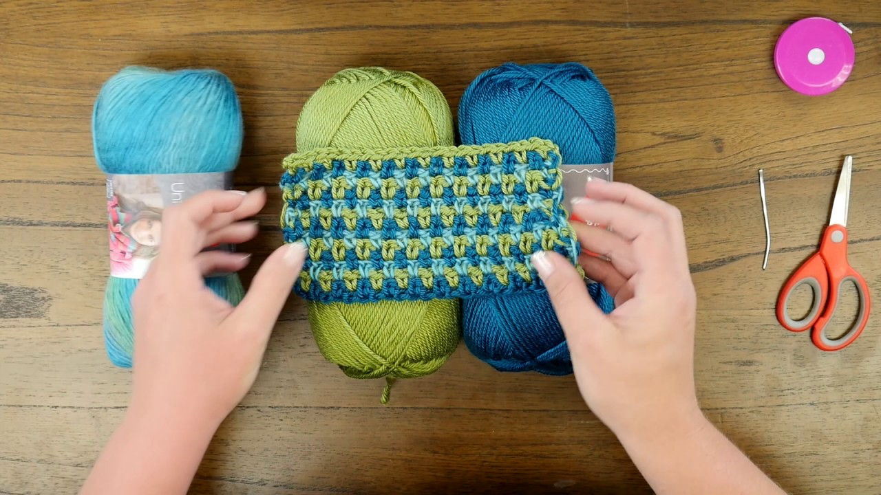 Red Heart Crochet Along Around Town Ruana Introduction Youtube