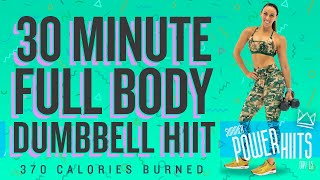 30 Minute Full Body Dumbbell HIIT Workout 🔥Burn 370 Calories!* 🔥Sydney Cummings