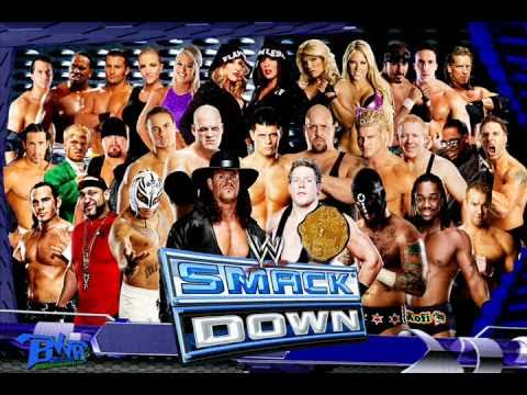 2014:wwe smackdown 15th theme song for 30 minutes black and blue.