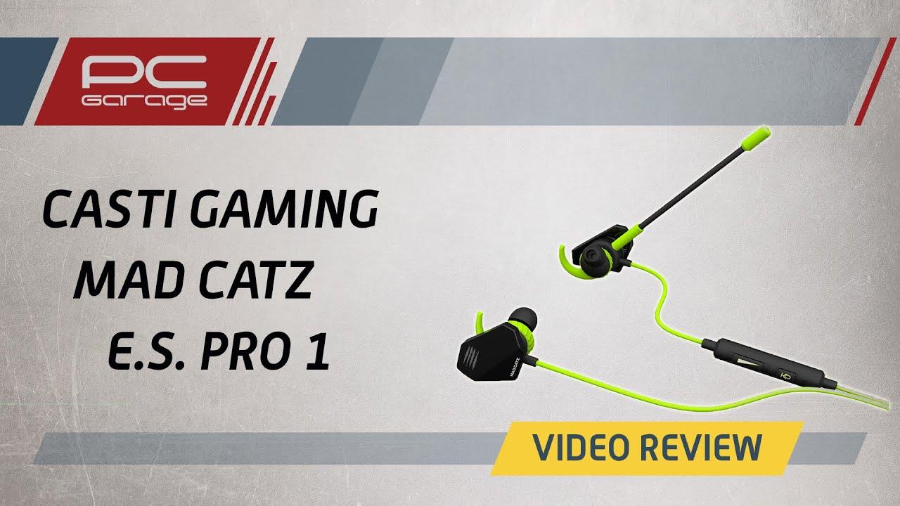 Video Review Casti Gaming MAD CATZ E.S. Pro 1