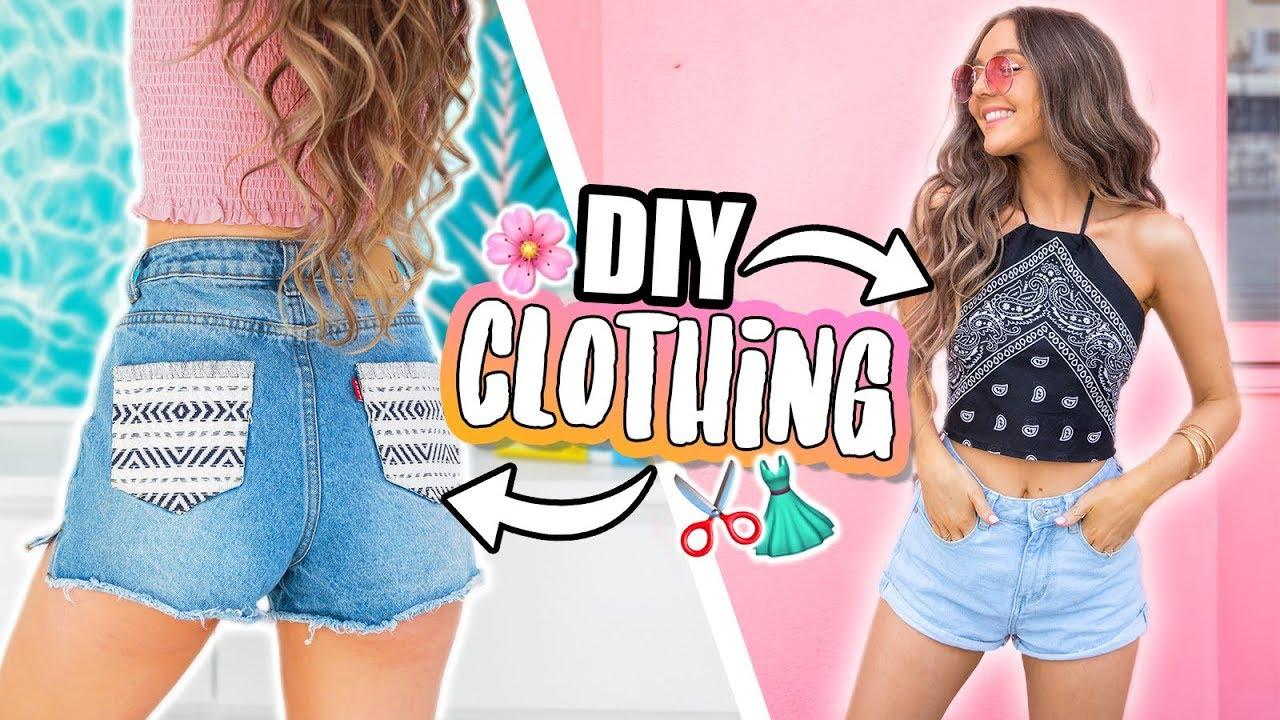 EASY DIY CLOTHING! No Sew + QUICK 2018 9