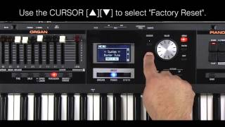 Roland VR-09 - Restoring the Factory Settings