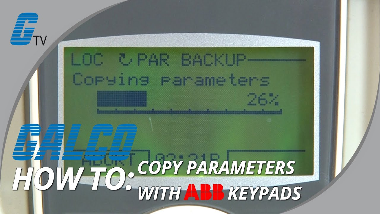 How To Copy Parameters With Abb Acs Drives From Keypad Youtube Motor Starters Control Wiring Diagram