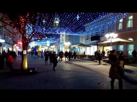 Novi Sad (Serbia) city center by night