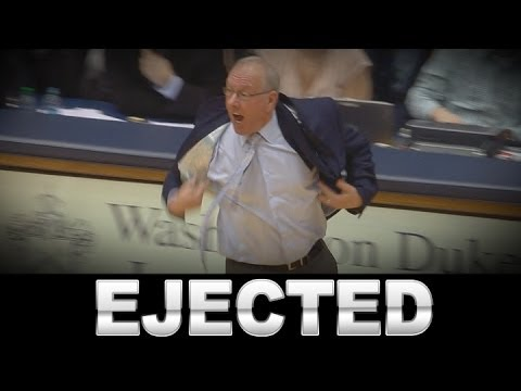 Controversial Call at End of Syracuse Duke Game Leads to Boeheim Ejection
