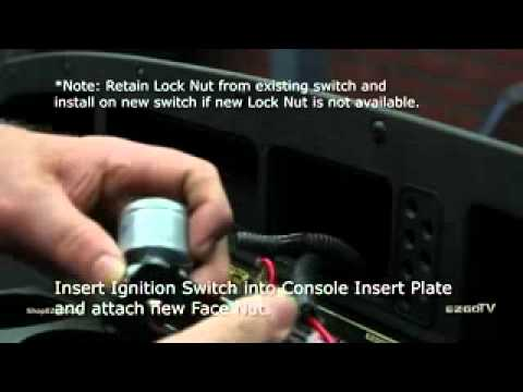 ez go golf carts wiring diagram arduino uno pinout e-z-go ignition switch installation. - youtube