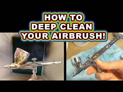 How To Deep Clean Your Airbrush Like New With An Ultrasonic Jewelry Cleaner