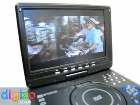 Portable Dvd Player 123 Inch Divx Freeview Player Youtube