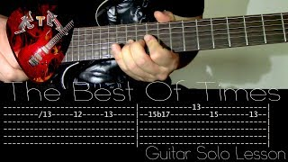 The Best Of Times Guitar Solo Lesson - Dream Theater (with tabs)