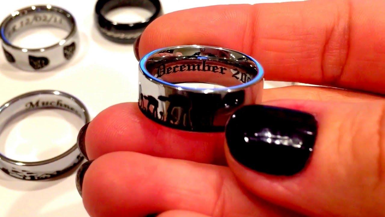 star wars wedding ring star wars wedding bands Star wars wedding ring Star Wars Star Wars Ring Tungsten Wedding Bands Www Ringsparadise Com