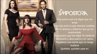 Para Mi - Alejandra Guzman ( La Impostora ) Audio y Letra