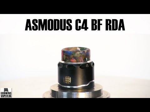 High End Squonk Atomizer - Asmodus C4 LP Single Coil RDA - Review (CZ + EN subs)