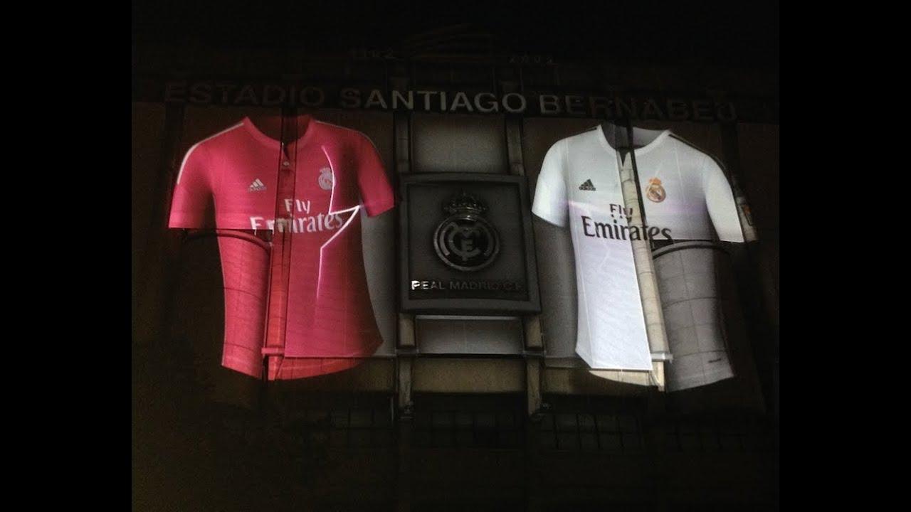 Mapping en el Santiago Bernabéu para la nueva camiseta del Real Madrid  ReasonWhy es e25a65b1fe2da