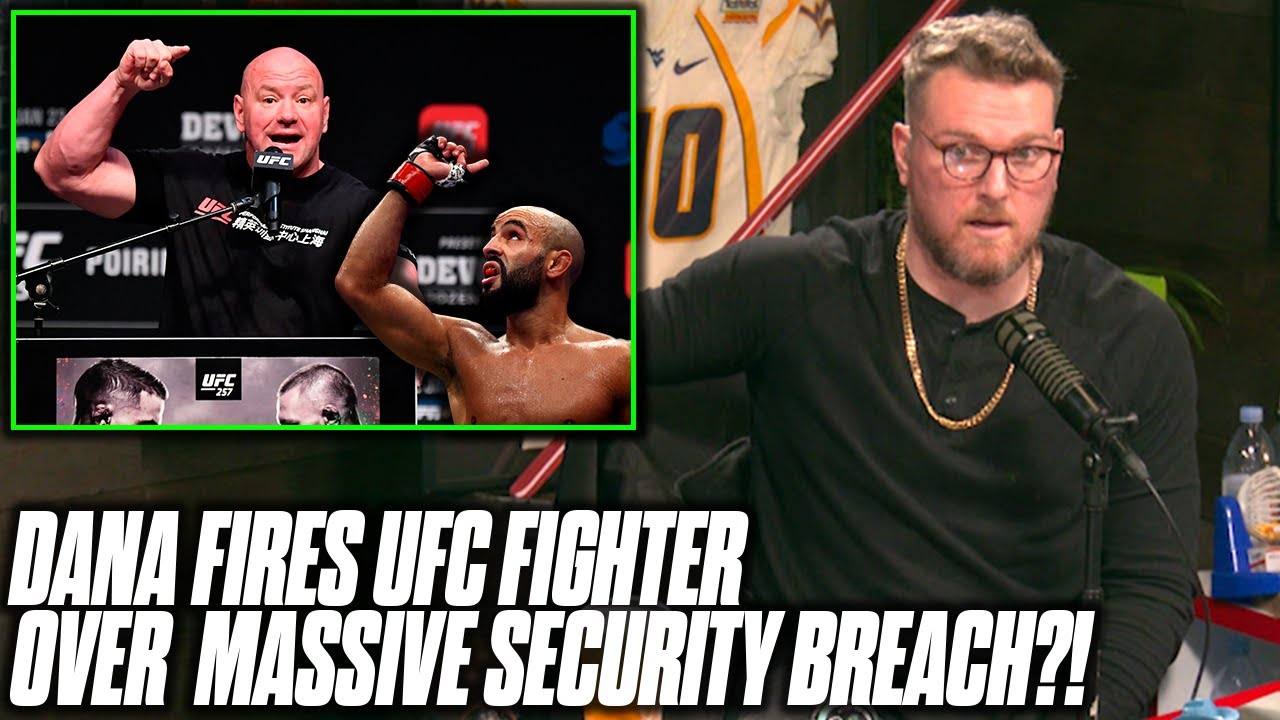 Pat McAfee Reacts To UFC Fighter Fired After A MONSTER Security Breach