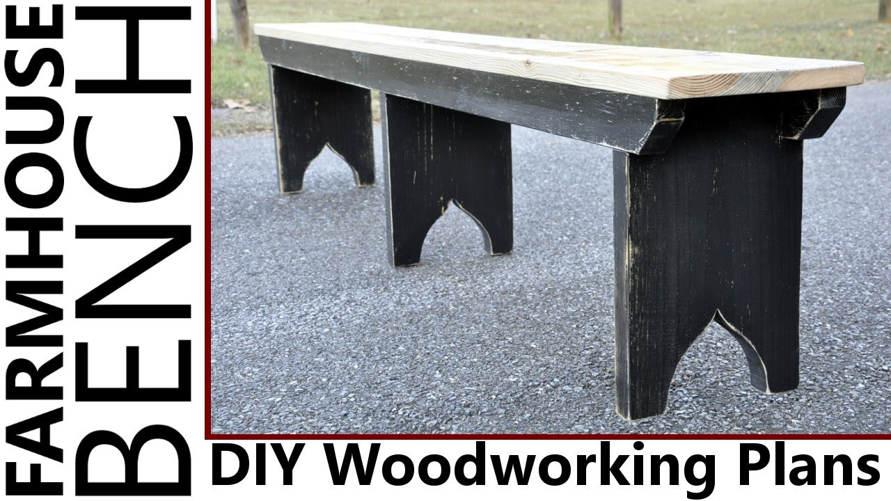 Farmhouse bench woodworking plans woodshop plans - Woodworking Farmhouse Bench Plans