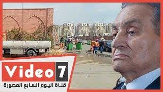 استعدادات في مقابر مبارك لاستقبال جثمانه