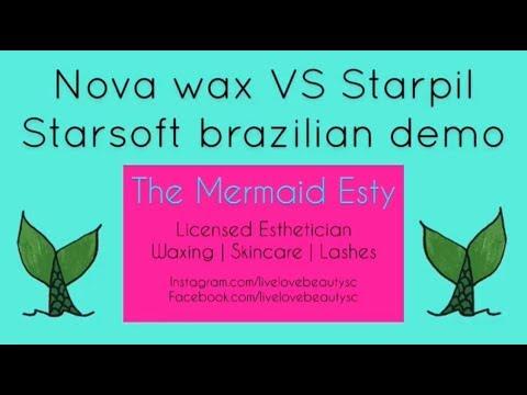 Nova wax vs Starpil Starsoft Brazilian  The Mermaid Esty