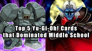 Top 5 Yu-Gi-Oh! Cards that Dominated Middle School