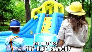 The Quest for THE BLUE DIAMOND: Professor Pitt vs The Floor is Lava SuperHero Kids SHK