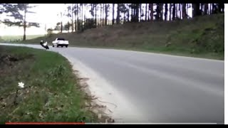 Piloto fazendo curva com moto ninja, Itaiópolis SC