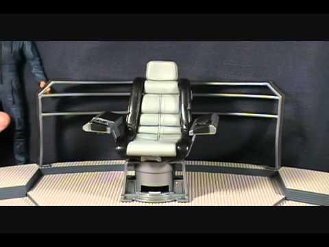 Star Trek Captains Chair Lazy Boy With Fridge And Speakers Enterprise Broken Bow Deluxe Captain Archer Bridge Base - Youtube