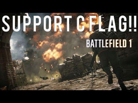 SUPPORT C FLAG!!! Battlefield 1 gameplay 59-16 on Sinai Desert (PS4)