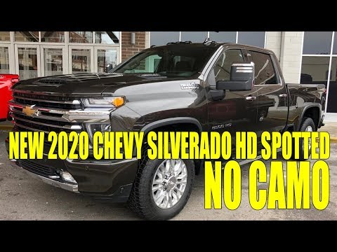 In the Flesh! New 2020 Chevy Silverado HD Spotted