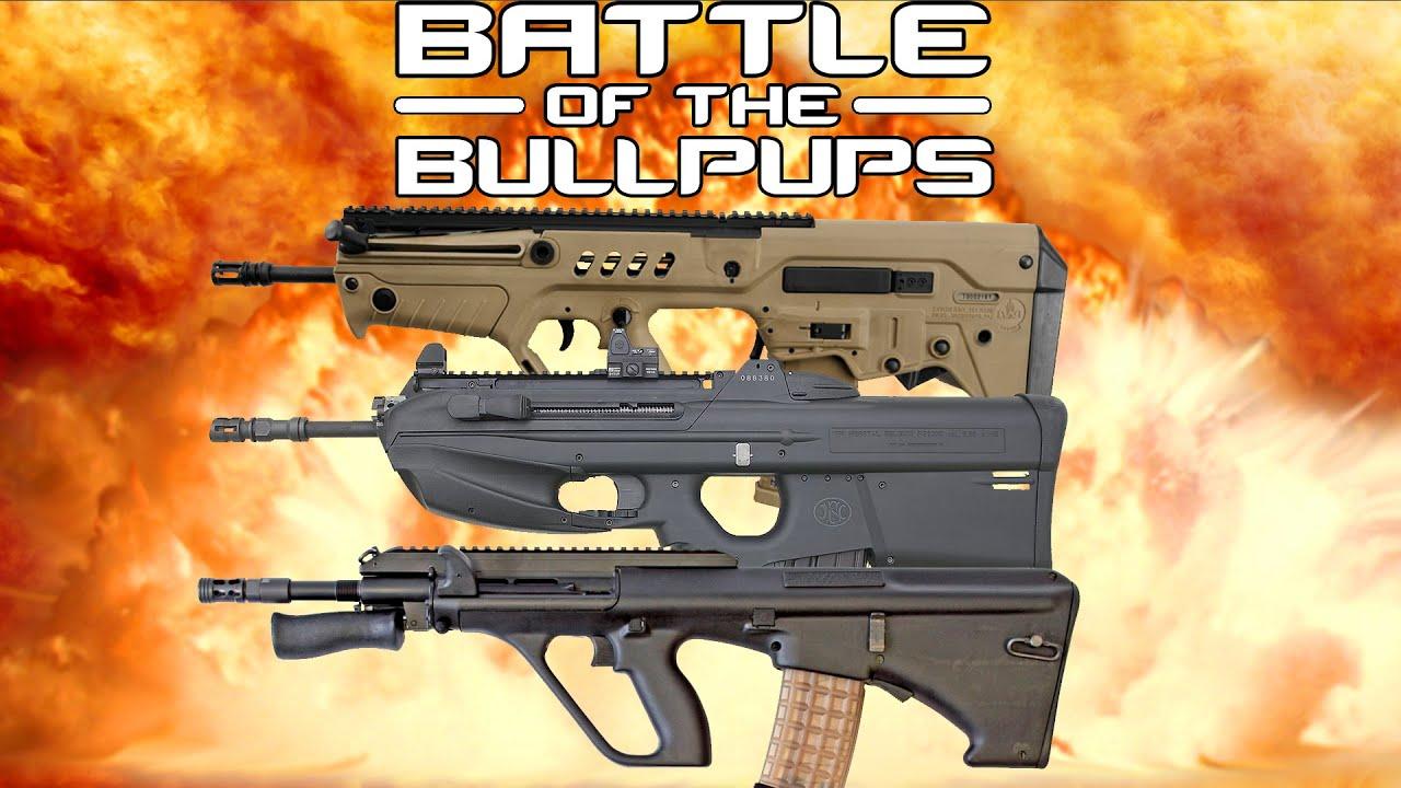 Battle of the bullpups steyr aug vs fn 2000 vs iwi tavor youtube voltagebd Gallery