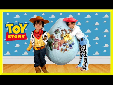 Thumbnail: GIANT EGG SURPRISE OPENING Disney Toy Story Toys Kids Video Super Giant Surprise Egg Biggest Egg