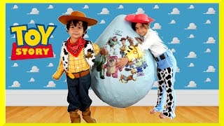 GIANT EGG SURPRISE OPENING Disney Toy Story Toys Kids Video Super Giant Surprise Egg Biggest Egg(Super Mega Giant Egg Surprise with Disney Toy Story Movie Toys! The Worlds biggest surprise egg ever with Disney Toy Story toys Buzz Lightyear, Woody, ..., 2015-10-06T05:30:32.000Z)