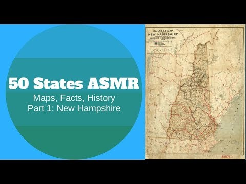 [ASMR] State Map Geography Part 1: New Hampshire
