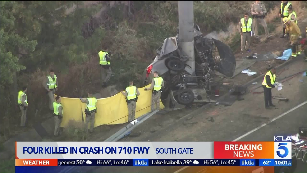 4 Killed on 710 Freeway in South Gate