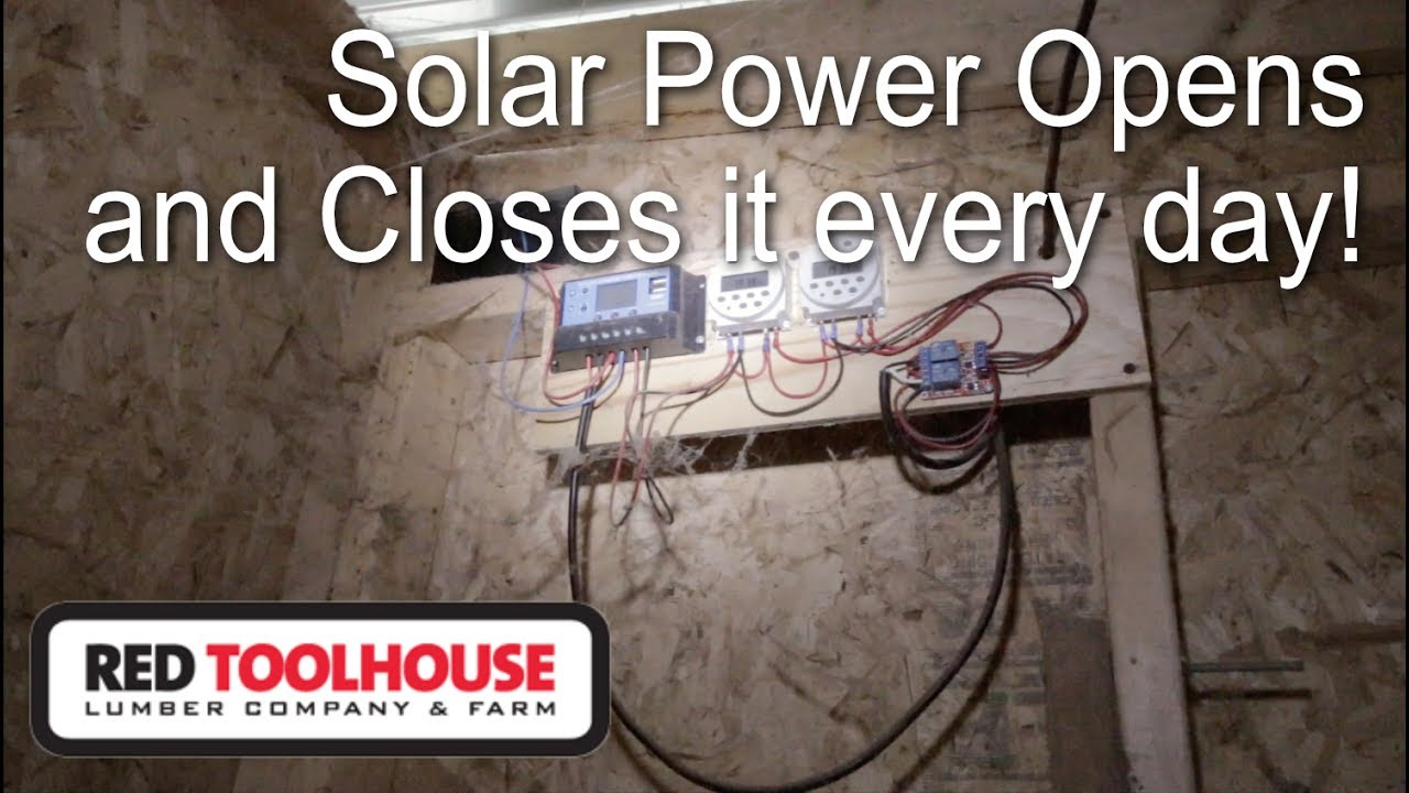Ep37  Explaining Our Diy Off-grid Automatic Chicken Coop Door - It U0026 39 S Solar Powered
