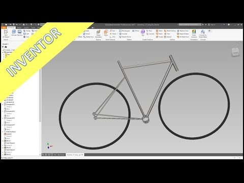 Bicycle Frame - Quick & Dirty - Inventor 2017 Training - Surfaces