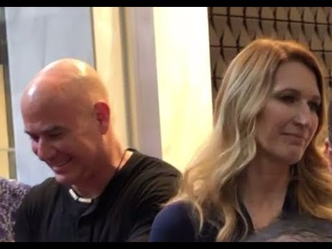 Andre Agassi and Steffi Graf in Melbourne, Australia 2019