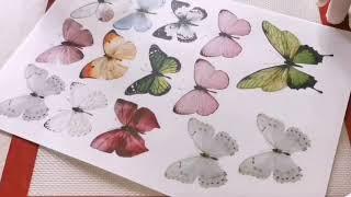 decorations on the cake. Butterflies from wafer paper/Украшение на торт. Бабочки из вафельной бумаги