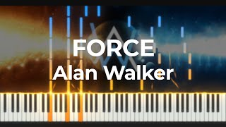 Alan Walker - Force Piano Cover + [MIDI]