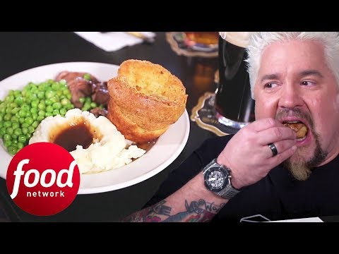 Guy Fieri Finds Authentic Yorkshire Pudding In A Brit Pub In Delaware | Diners, Drive-Ins & Dives