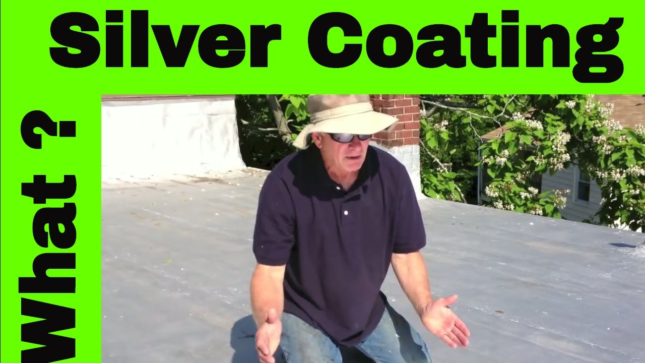 Silver Paint or Aluminum Asphalt paint protect roofs against UV's- video