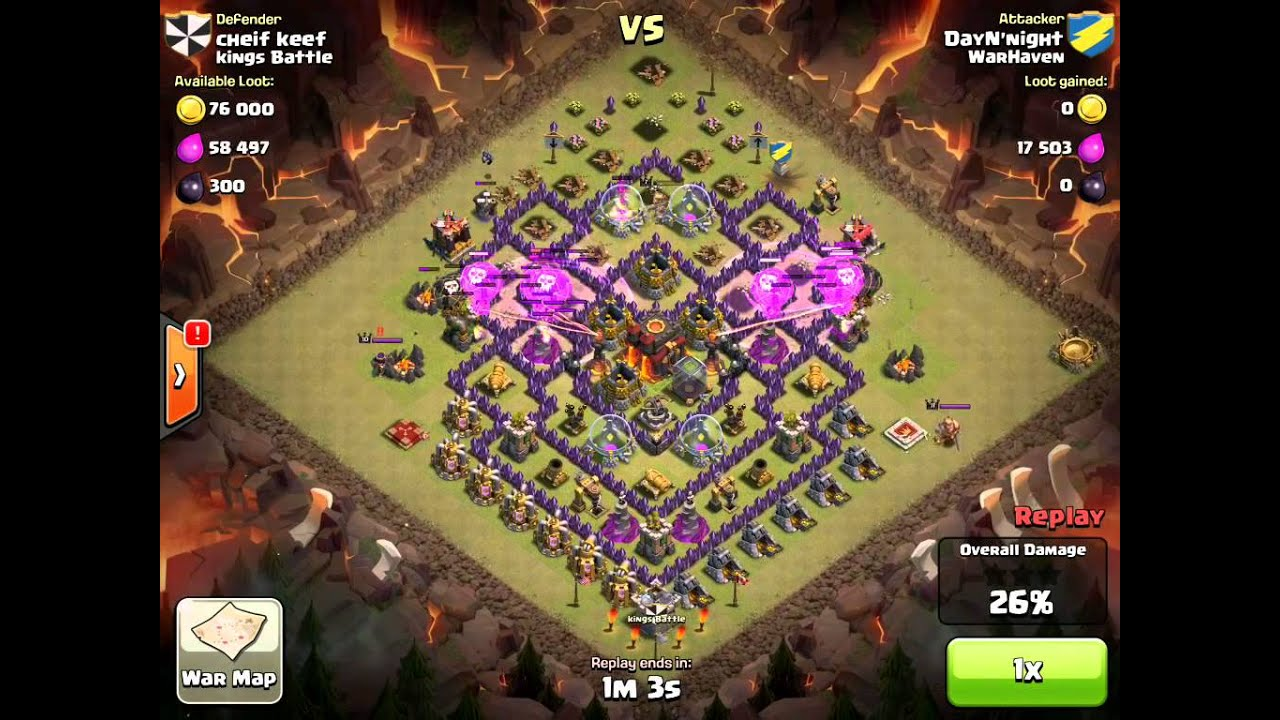 WarHaven COC Loonion and Hog Attack on TH10 - YouTube