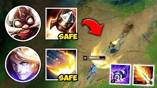 WE PLAYED THE SAFEST DOUBLE POKE LANE IN EXISTENCE! (AND WENT FULL AP) - League of Legends