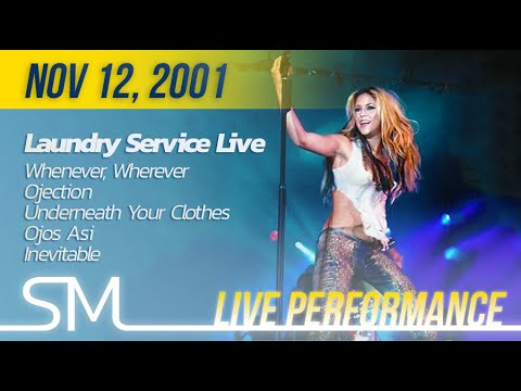 Download Shakira | 2001 | Laundry Service Release Party (Whenever Wherever, Objection, UYC, OA, Inevitable)