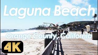 【Laguna Beach】セレブから愛されるカリフォルニア屈指のビーチタウン「ラグナビーチ」を歩く [4K]