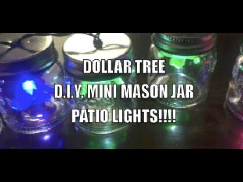 Dollar tree diy mini mason jar patio lights youtube dollar tree diy mini mason jar patio lights workwithnaturefo