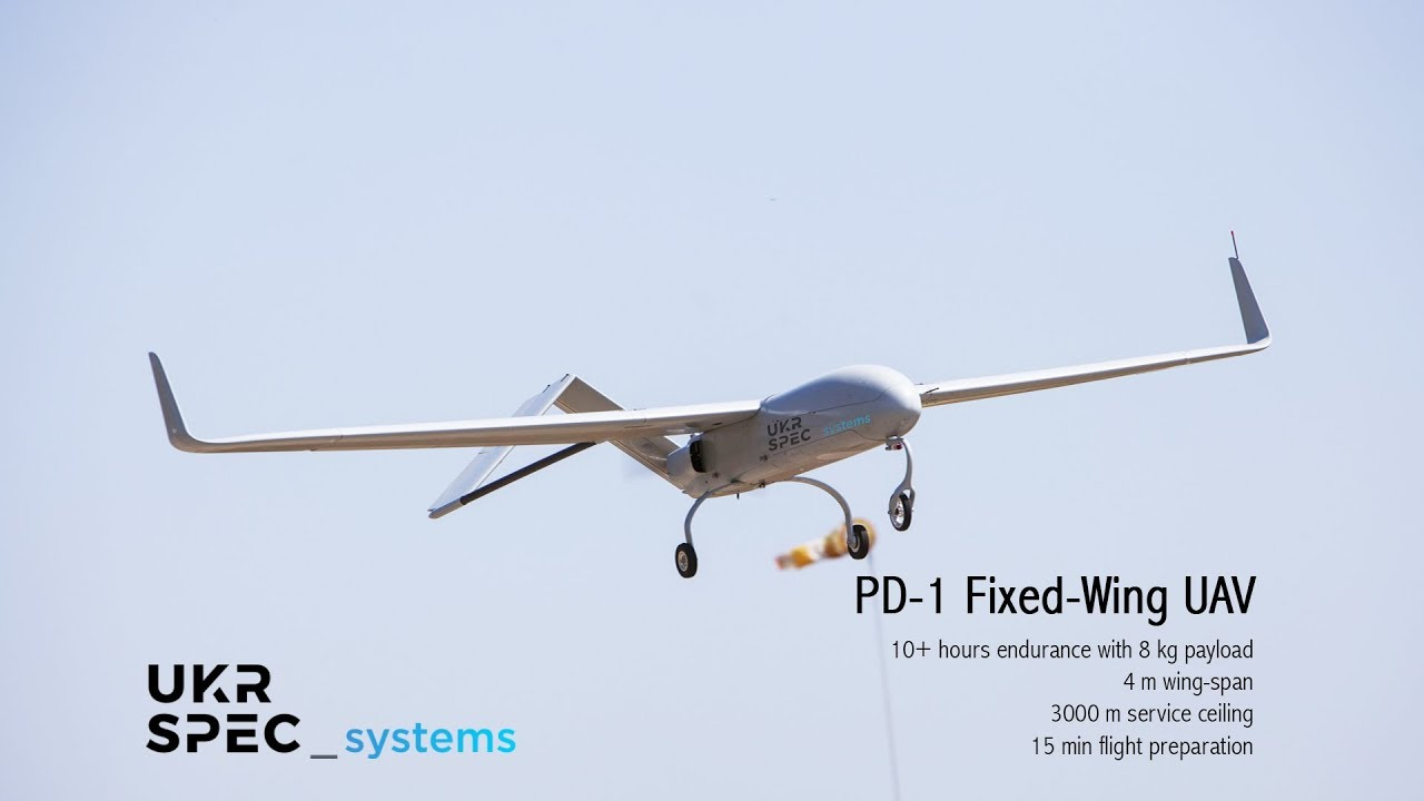 PD 1 Fixed Wing UAV By Ukrspecsystems