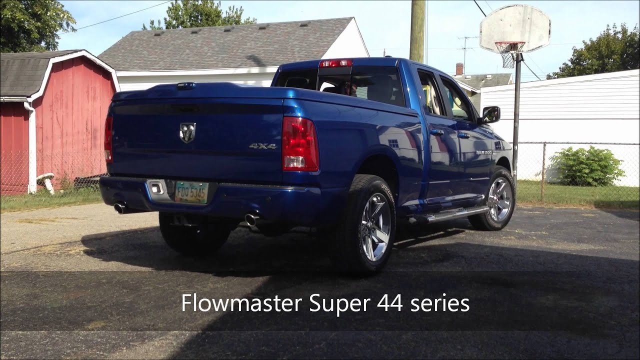 2011 Ram 5 7 Hemi Flowmaster Super 44 Exhaust Before