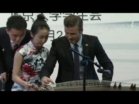 David Beckham Delights Fans in Beijing