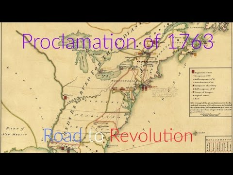 Proclamation of 1763 | Road to Revolution - YouTube